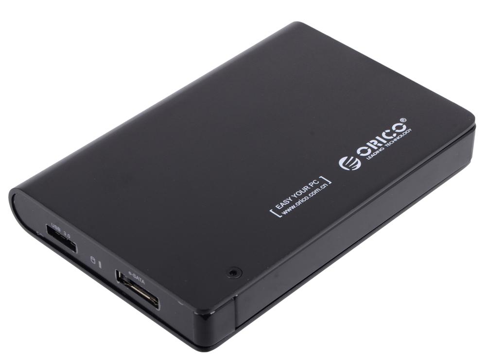 """Внешний контейнер для HDD Orico 2598SUS3-BK (черный) 2.5"""" USB 3.0; e-SATA"""