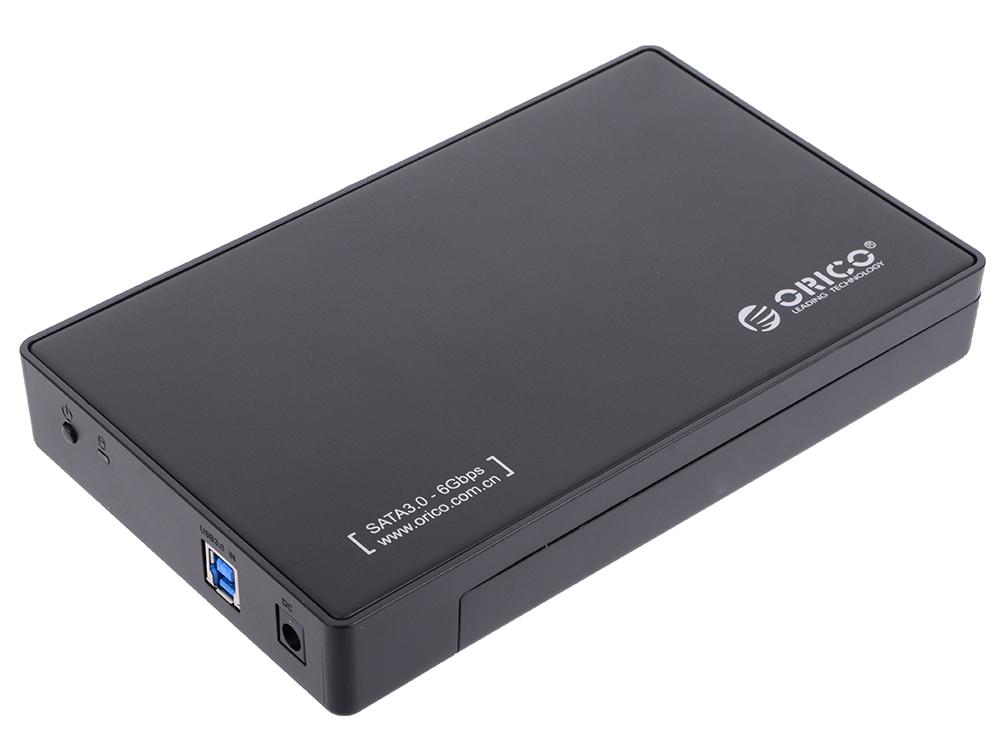 Внешний контейнер для HDD Orico 3588US3-BK (черный) 2.5/3.5 USB 3.0 внешний контейнер для hdd 2x3 5 sata orico 9528u3 usb3 0 серебристый