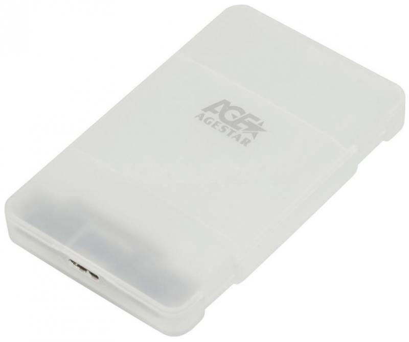 Внешний контейнер для HDD 2.5 SATA AgeStar 31UBCP3 USB3.1 алюминий белый внешний корпус для hdd ssd agestar 31ubcp3 белый