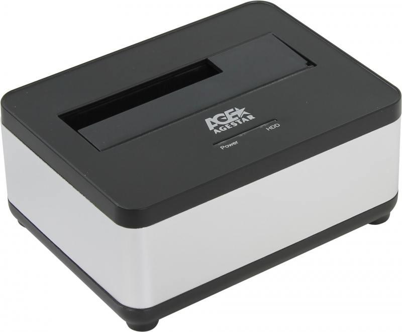 Док станция для HDD 2.5/3.5 SATA AgeStar 3UBT7 USB3.0 серебристый процессор intel original celeron g3900 soc 1151 bx80662g3900 s r2hv 2 8ghz intel hd graphics 510 box