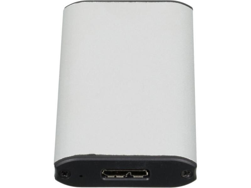 Внешний контейнер для HDD mSATA AgeStar 3UBMS1 USB3.0 пластик/алюминий черный