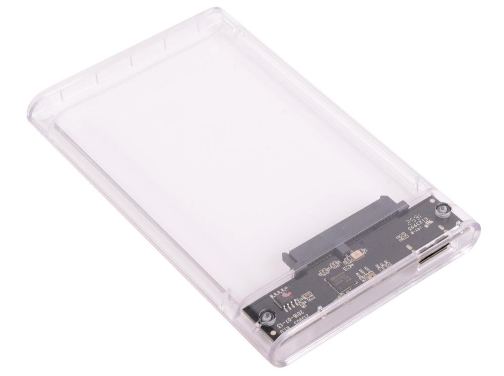 Внешний контейнер для HDD Orico 2139U3 (прозрачный) 2.5 USB 3.0 внешний контейнер для hdd 2x3 5 orico 3529rus3 черный usb 3 0