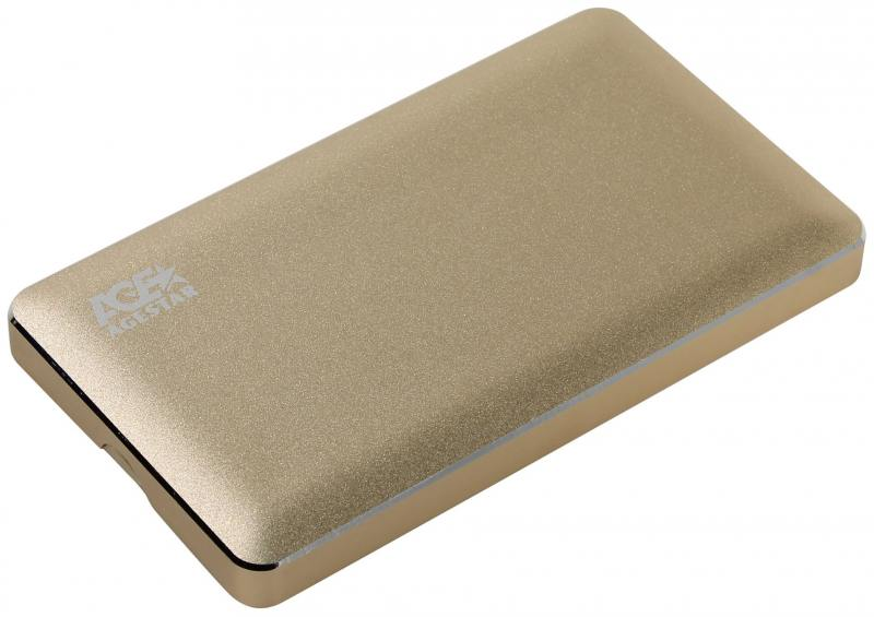 Внешний контейнер для HDD 2.5 SATA AgeStar 3UB2A16C USB3.0 type-C алюминий золотистый корпус для hdd orico 9528u3 2 3 5 ii iii hdd hd 20 usb3 0 5