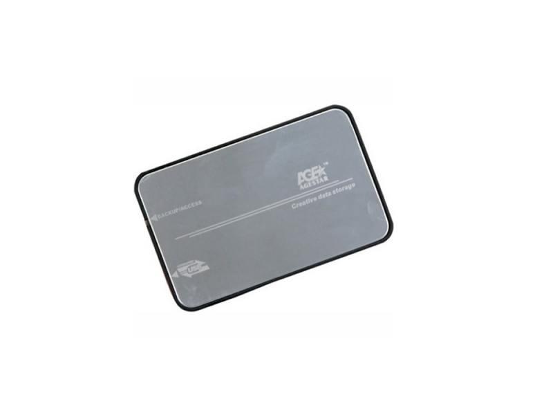 "Внешний контейнер для HDD 2.5"" SATA AgeStar 3UB2A8S-6G USB3.0 серебристый"