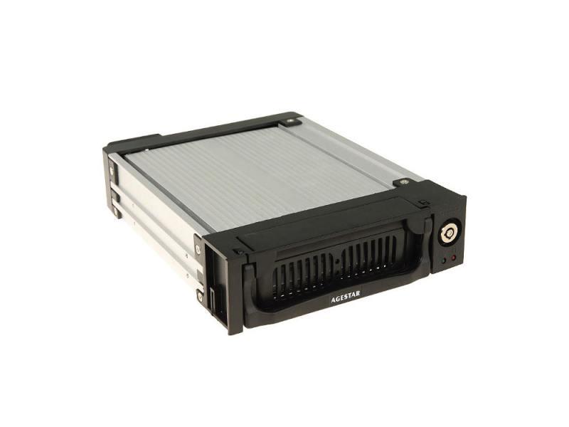 Салазки для жесткого диска (mobile rack) для HDD 3.5 AGESTAR SR1A-K-3F SATA черный салазки для жесткого диска mobile rack для hdd 3 5 agestar amr1 sata k 3f 3fan серебристый sr1a k 3f