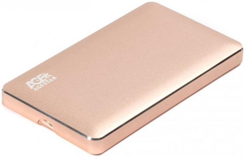 Внешний контейнер для HDD 2.5 SATA AgeStar 3UB2A16 USB3.0 алюминий золотистый внешний контейнер для hdd 2 5 sata agestar 31ub2a16 usb3 1 алюминий золотистый