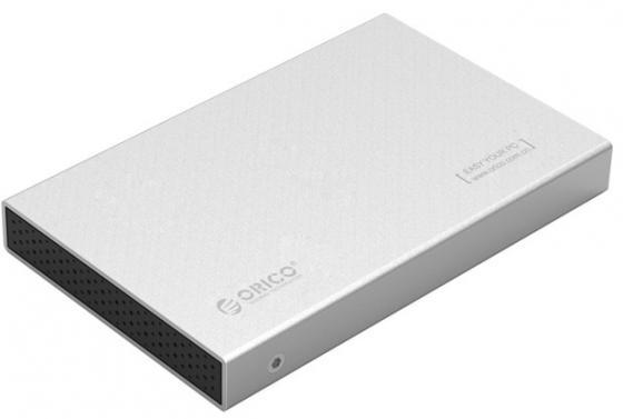 Внешний контейнер для HDD 2.5 SATA Orico 2518S3 USB3.0 серебристый внешний контейнер для hdd 2x3 5 sata orico 9528u3 usb3 0 серебристый