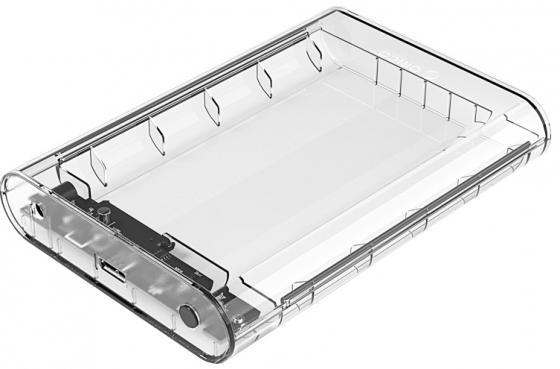 Внешний контейнер для HDD 3.5 SATA Orico 3139U3 USB3.0 прозрачный внешний контейнер для hdd 2x3 5 sata orico 9528u3 usb3 0 серебристый