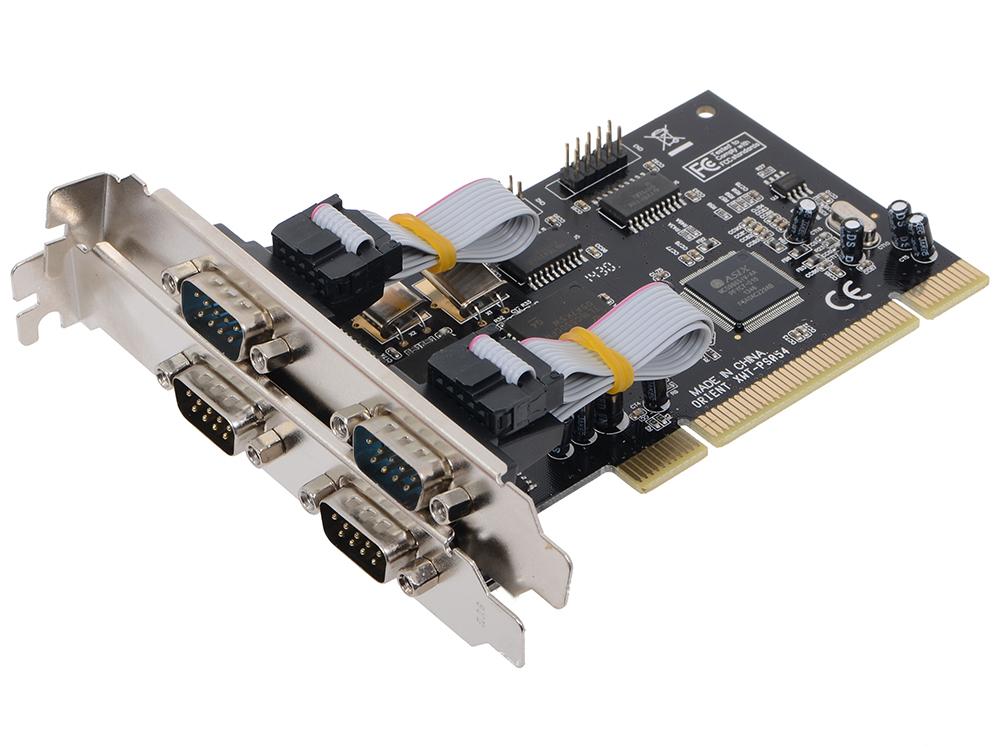 Контроллер Orient XWT-PS054, PCI - 4xCOM, Moschip 9865, ret