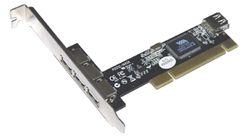 Контроллер ST-Lab U-165 USB 2.0 , 3+1 Ports (VIA6212) PCI, Retail