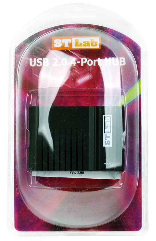 Концентратор ST-Lab U-271 HUB 4 PORTS USB 2.0 , Retail U2-N21 UH30 orico p12 usb 3 0 hub with 12v 5a power adapter 60w 12 ports with 3 port bc1 2 charging ports desktop multi function 3 0 hub