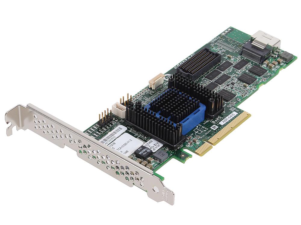 Контроллер Adaptec ASR-6405 SGL (2270000-R) SAS 6G, (PCI-E v2 x8, LP) RAID 0,1,10,5,6,50, 4port(intSFF8087), 512Mb onboard, Каб.отдельно