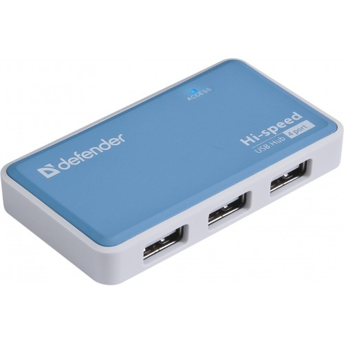 Концентратор USB 2.0 Defender QUADRO POWER (4 порта, БП) defender quadro power