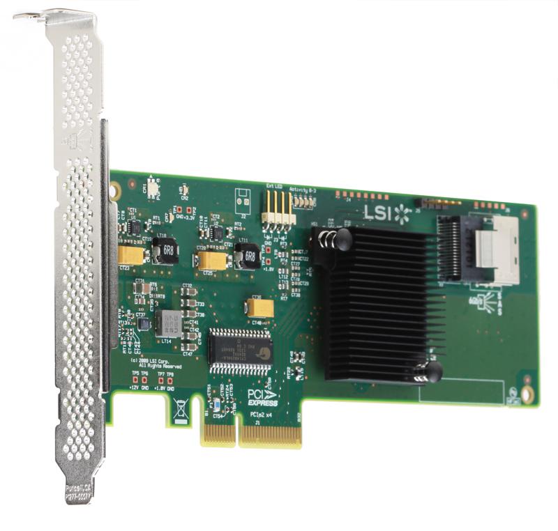 Контроллер LSI SAS9211-4I SGL (LSI00190) (PCI-E 2.0 x8, LP)
