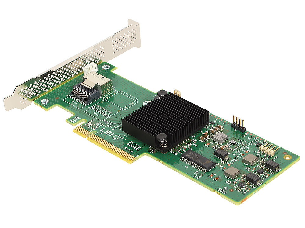 Контроллер LSI MegaRAID SAS9240-4I SGL (LSI00199) SAS6G (PCI-E 2.0 x8, LP), RAID 0,1,10,5, 4port (1*intSFF8087), Каб.отдельно
