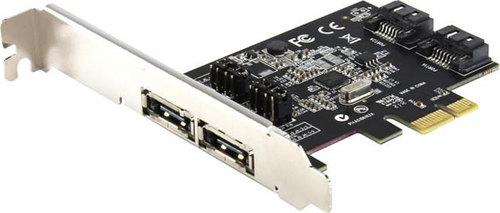 Контроллер ST-Lab A-480, 2 int (SATA600) + 2 ext (SATA600), Ret PCI-E x1