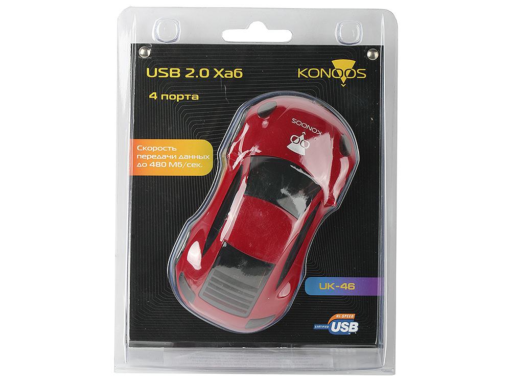 Концентратор USB 2.0 Konoos UK-46