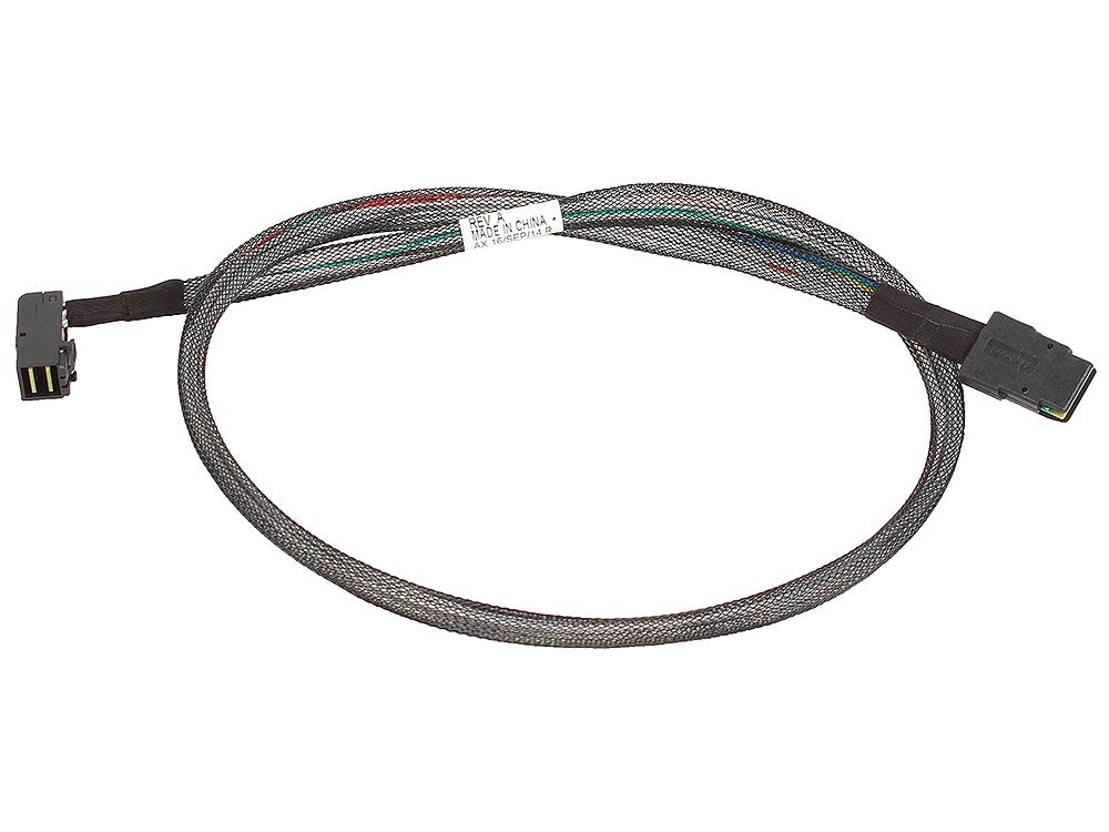 Кабель Adaptec ACK-I-rA-HDmSAS-mSAS-0.8M (2280200) Кабель SAS внутр., 80см., разъемы SFF8643(угловой) -to- SFF8087 кабель