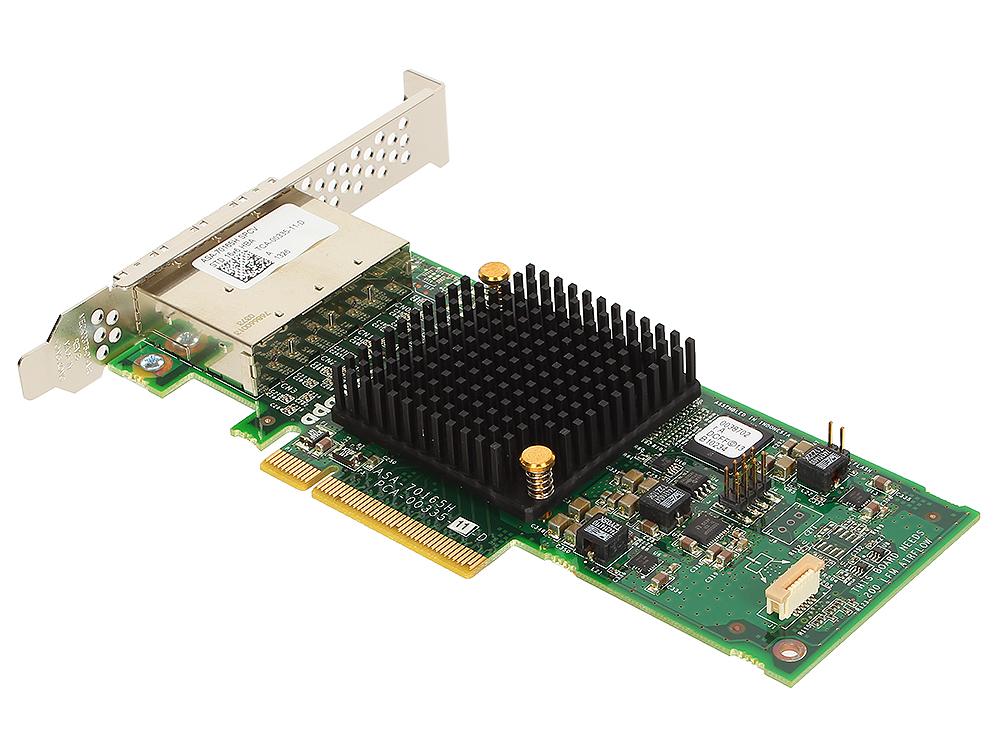 Контроллер Adaptec ASA-70165H SGL (2278500-R) SAS 6G, 16port(ext 4*SFF8644), Каб.отдельно кабель hp 2m ext minisas hd sff8644 to minisas hd sff8644 716197 b21