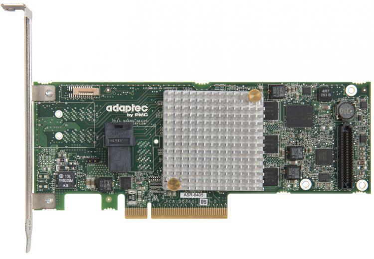 Контроллер Adaptec ASR-8405 SGL (2277600-R) SAS 12G,RAID 0,1,10,5,6,50, 4port(int1*SFF8643),1Gb, Каб.отдельно