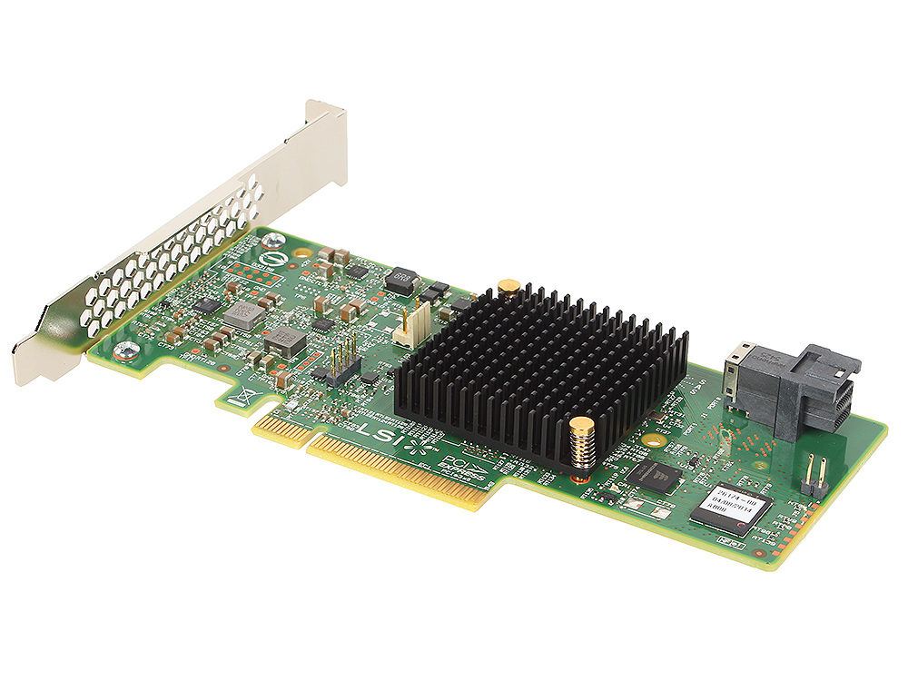 Контроллер LSI MegaRAID SAS9341-4I SGL (LSI00419) SAS 12G, (PCI-E 3.0 x8, LP) , RAID 0,1,10,5, 4port (1*intSFF8643), Каб.отдельно