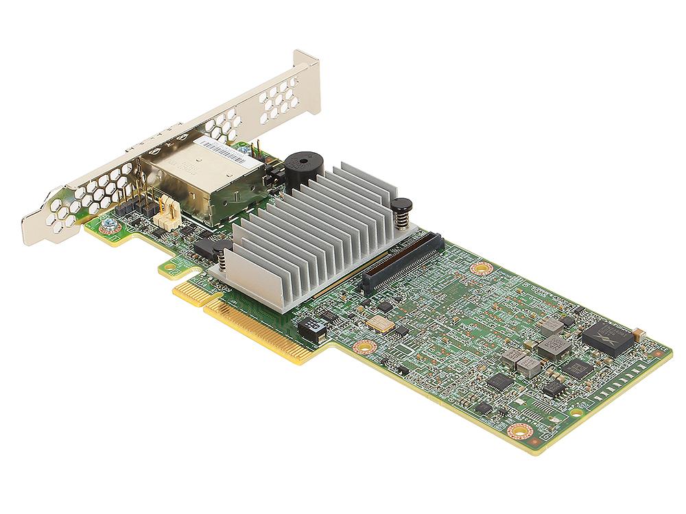 Контроллер LSI MegaRAID SAS9380-8e (PCI-E 3.0 x8, LP) SGL SAS 12G, RAID 0,1,10,5,6, 8port (2*extSFF8644),1GB onboard, Каб.отдельно pci e to