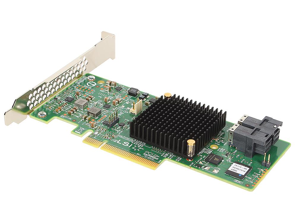 Контроллер LSI MegaRAID SAS9341-8I SGL (LSI00407) SAS 12G, (PCI-E x8), RAID 0,1,10,5, 8port (2*intSFF8643),Каб.отдельно
