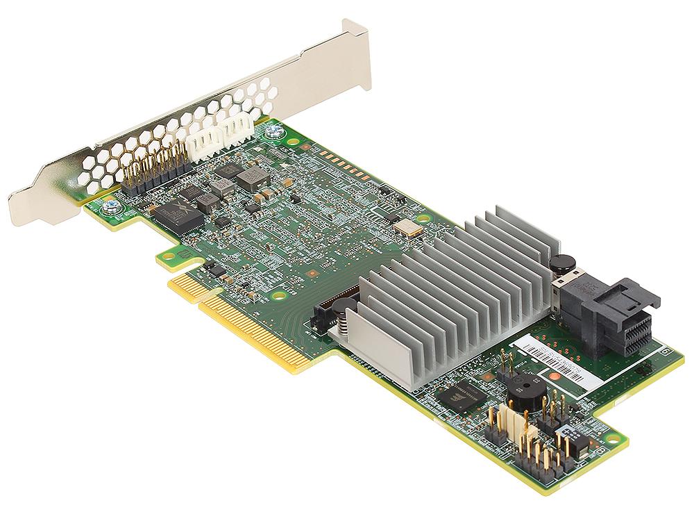 Контроллер LSI MegaRAID SAS9361-4I SGL (LSI00415) SAS 12G, (PCI-E 3.0 x8, LP) , RAID 0,1,10,5, 4port (1*intSFF8643), Каб.отдельно
