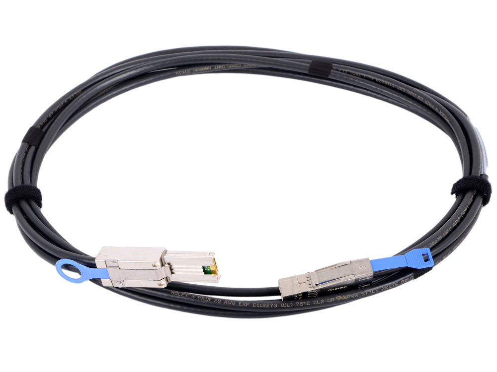 Кабель Dell Mini-SAS to HD-Mini 6Gb 2M 470-AASD кабель для сервера dell sas connector external cable 2м 470 11676r 470 11676r