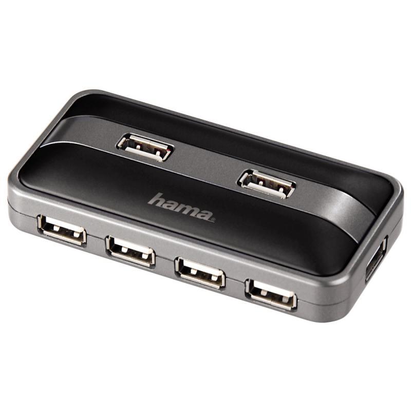 Концентратор USB Hama H-78483 7 портов USB2.0 черный