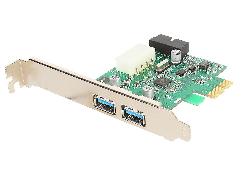 Контроллер ORIENT VA-3U2219PE, PCI-E USB 3.0 2ext/2int (19pin) port, VL805 chipset, разъем доп.питания, oem контроллер orient a1061s sata 3 2 ext 2 in port asmedia asm1061 pci e v 2 0 ret