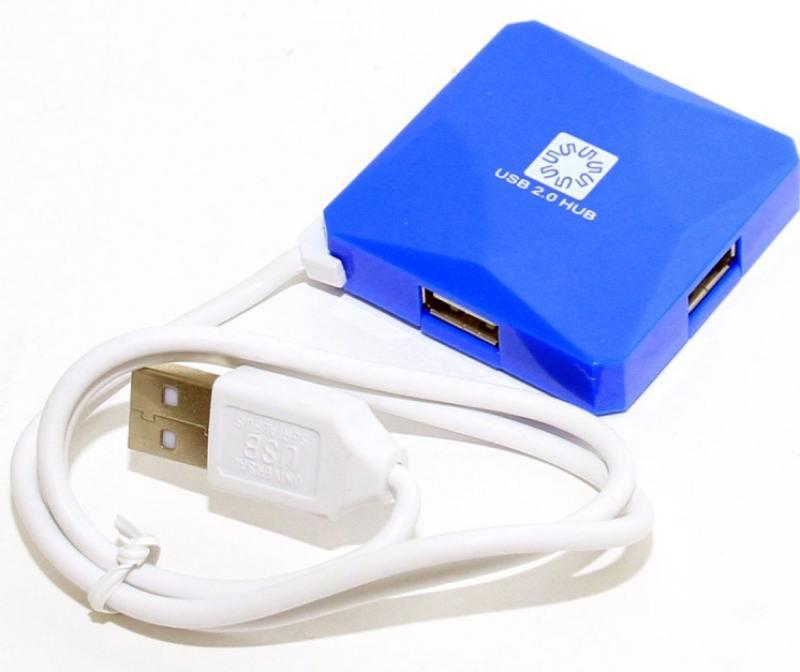 Концентратор USB 5bites HB24-202BL 4 порта USB2.0 синий