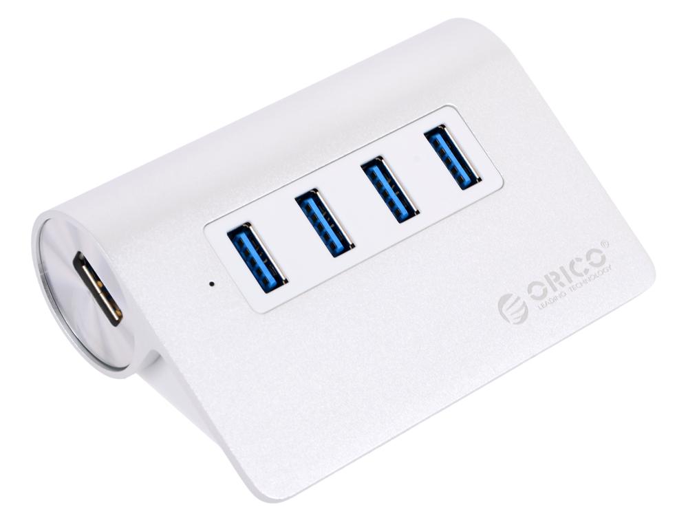 Концентратор USB Orico M3H4 (серебристый) USB 3.0 x 4