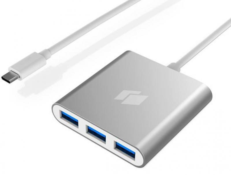 Концентратор USB Hiper C4 4 порта USB 3.0 серебристый