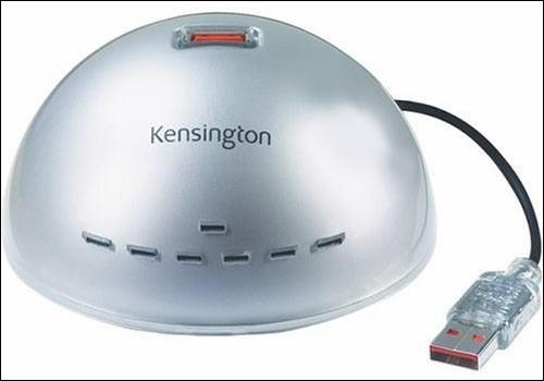 Концентратор USB Kensington 1500100 7 портов USB 2.0 серебристый