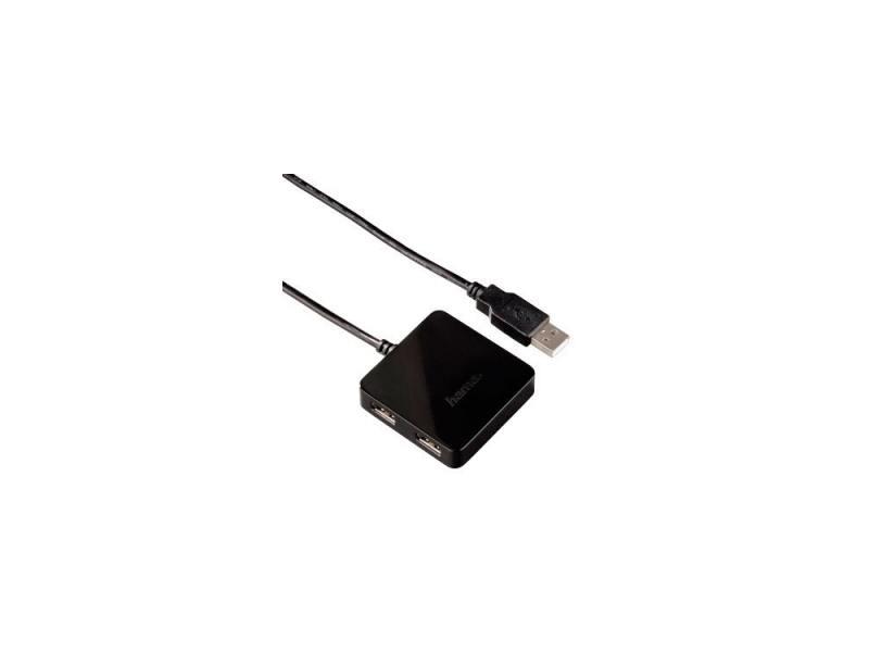 Концентратор USB Hama H-12131 4 порта USB2.0 пассивный черный мышь hama h 53879 roma лазерная беспроводная usb черный [00053879]