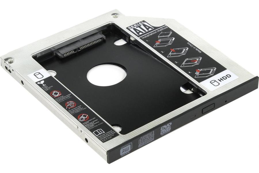 """Картинка для ORIENT UHD-2SC9, Шасси для 2.5"""" SATA HDD для установки в SATA отсек оптического привода ноутбука 9.5 мм"""