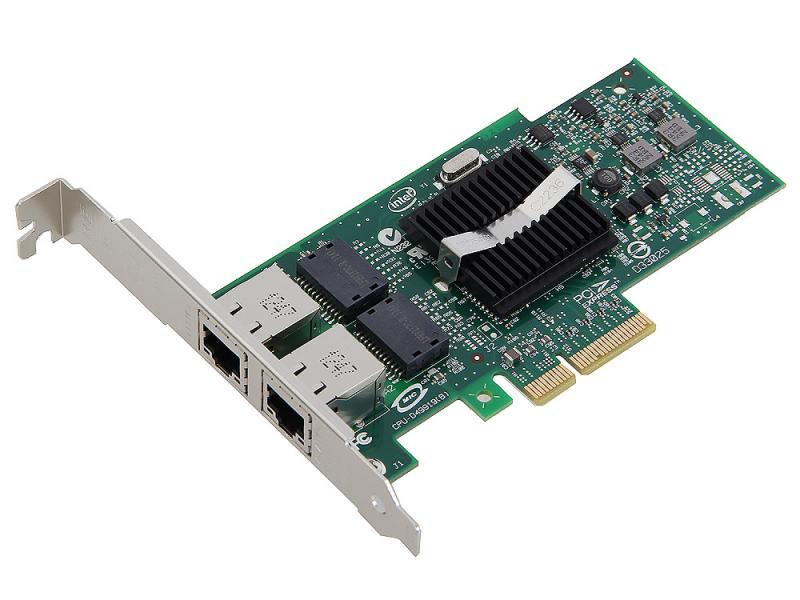 Сетевой адаптер Intel EXPI9402PTBLK PRO/1000 PT Dual Port Server Adapter PCI Express Intel I/OAT адаптер dell qlogic 2562 dual port 8gb fibre channel hba pci e x8 full profile kit 406 bbek