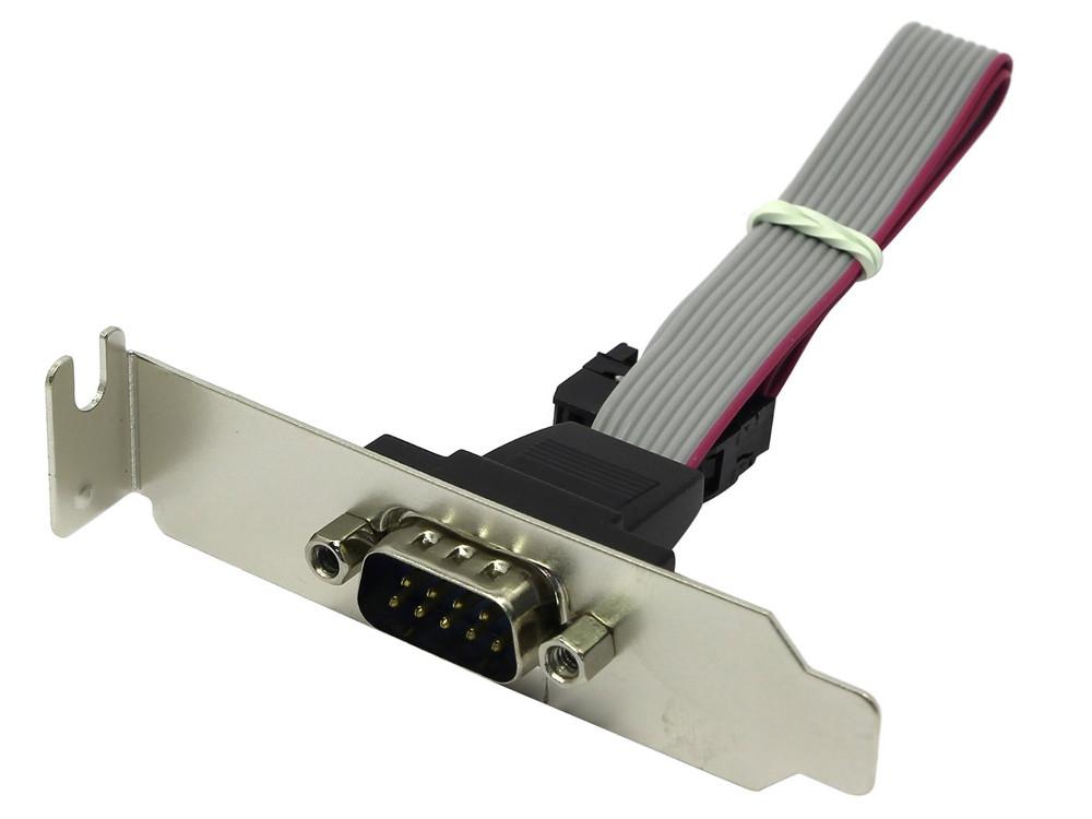 Планка (bracket) портов в корпус - 1 порт RS232 (COM port) низкопрофильная Espada ECOMp-BRCTLow 2 port serial rs232 expansion expresscard for laptops