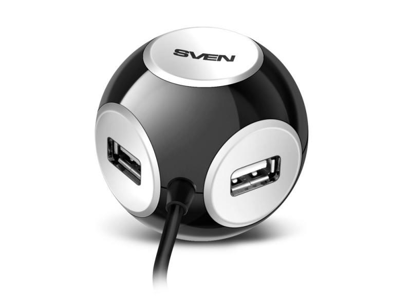 Концентратор USB Sven HB-444 4 порта USB2.0 черный