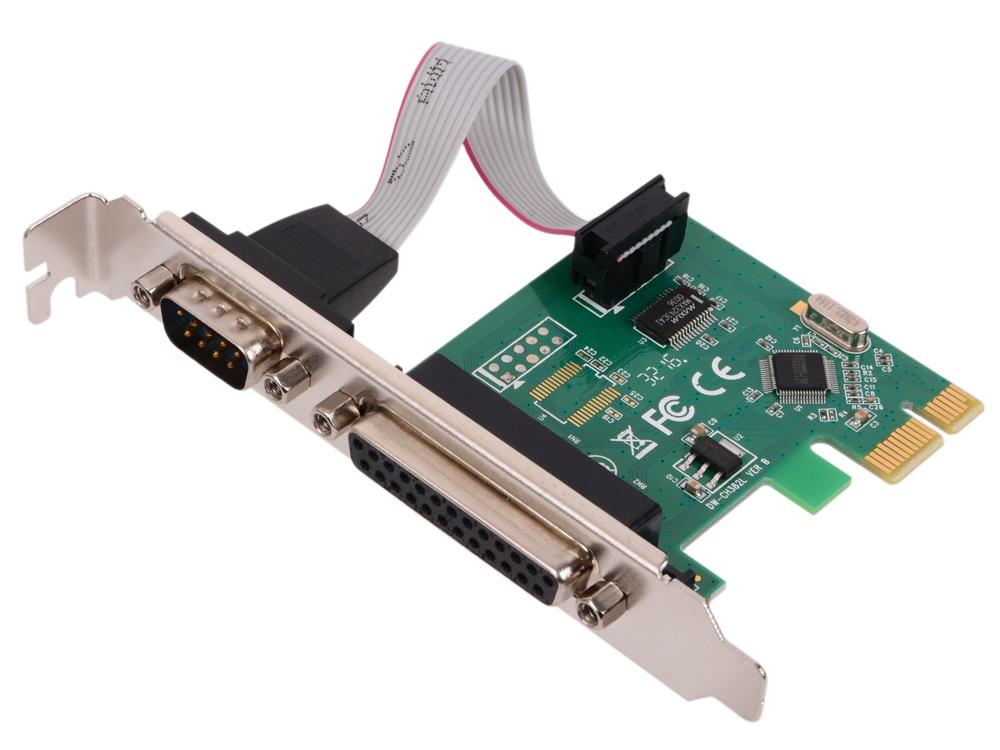 Контроллер Orient XWT-PE1S1PV2, PCI-E to COM 1-port + LPT 1-port (WCH CH382) oem контроллер pci e sata ide 2 1 port sata raid jmb363 bulk