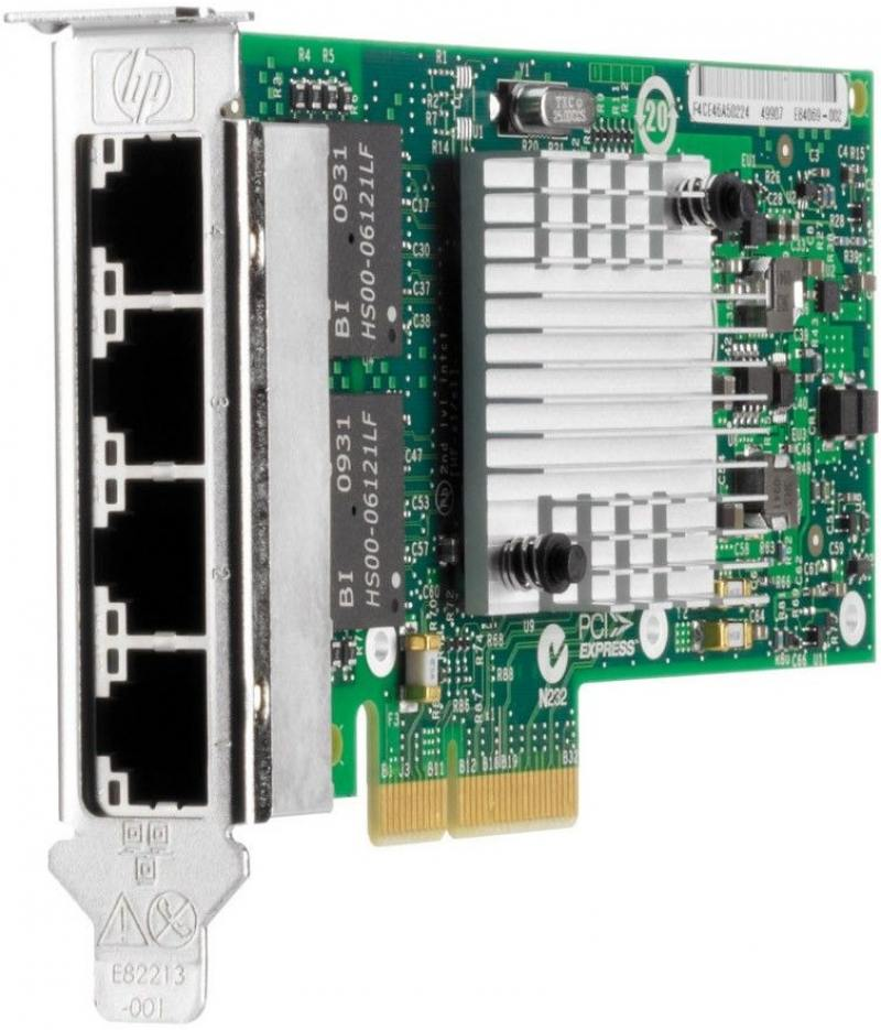 Серверный сетевой адаптер HP NC365T 4хRJ-45 10/100/1000 Мбит/с 593722-B21