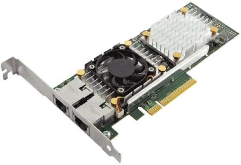 Адаптер Dell 57810 DP Broadcom 10Gb BT Converged Network Adapte Low Profile 540-11152 адаптер dell qlogic 2562 dual port 8gb fibre channel hba pci e x8 full profile kit 406 bbek
