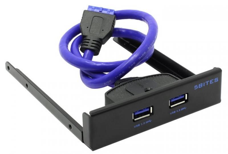 Концентратор USB 3.0 5bites FP184A 2 х USB 3.0 черный концентратор usb 2 0 d link dub h7 b d1a 7 x usb 2 0 черный
