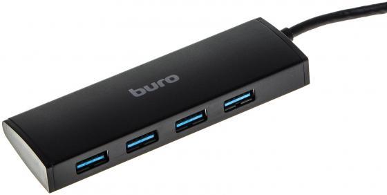 Концентратор USB 3.0 BURO BU-HUB4-0.5-U3.0 4 4 х USB 3.0 черный zhiyusun new 10 4 inch touch screen 4 wire resistive usb touch panel overlay kit free shipping 225 173