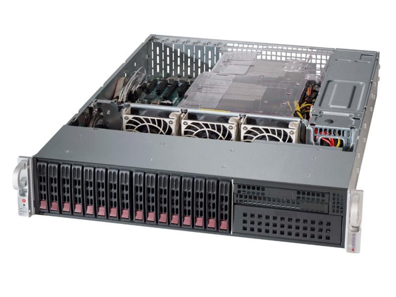 "Серверная платформа Supermicro SYS-2028R-C1R X10DRH-C / CSE-213AC-R920LPB, 8x 2.5"" SAS3 and 8x 2.5"" SATA3 Hot-swap, 920W RPS"