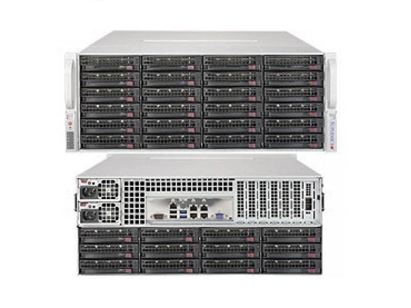 Серверная платформа SuperMicro SSG-6048R-E1CR36N 4U E5-2600v3 LGA2011 24xDDR4 SAS SATA 2x1280 Вт