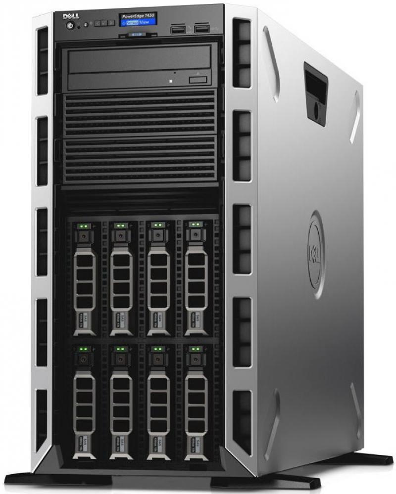 Сервер Dell PowerEdge T430 T430-ADLR-04t сервер dell poweredge t430 210 adlr 004