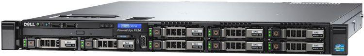 Сервер Dell PowerEdge R430 Base4x3.5, NO (CPU, Memory, HDD (up to 4x3.5 HotPlug)), PERC H330 (RAID 0-50), DVDRW, BCM5720 QP 1GbE, iDRAC8 Enterprise, PS (1)x 550W (up to 2), Bezel, Sliding Rack Rails, адаптер dell broadcom 5720 qp 1gb network daughter 540 11146