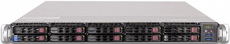 Серверная платформа Supermicro SYS-1018R-WC0R 1U LGA2011-3 C612 8xDDR4 10x2.5 2xGigabit Ethernet 2х тобрекс 2х 0 3